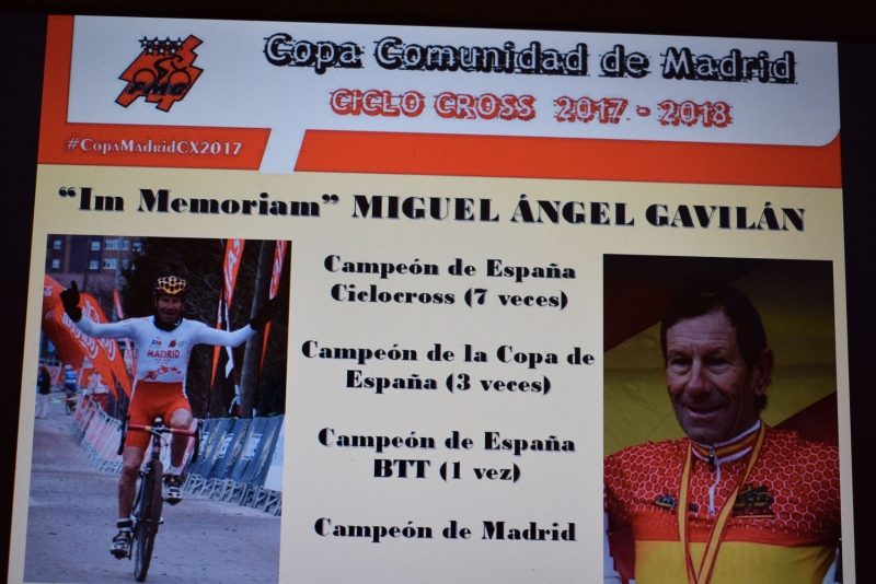 Homenaje a Miguel Ángel Gavilán en la presentación de la Temporada de Ciclocross de 2018