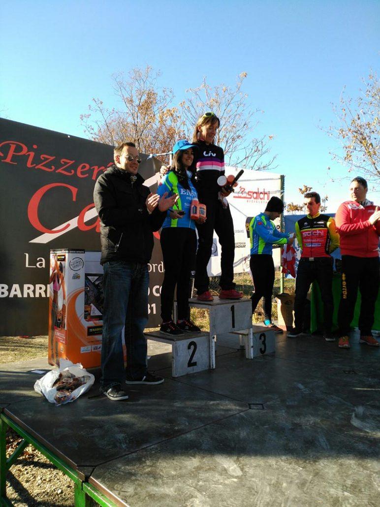 Cristina Arconada en el Podio del Ciclocross Coslada 2017