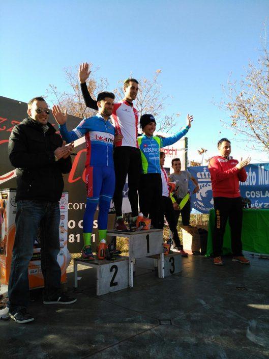 Victor Aguado en el Podio del Ciclocross Coslada 2017